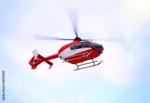 Leinwanddruck Bild Air Ambulance Copter