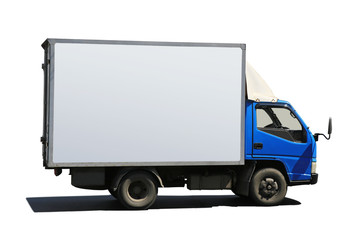 truck with blue cabin