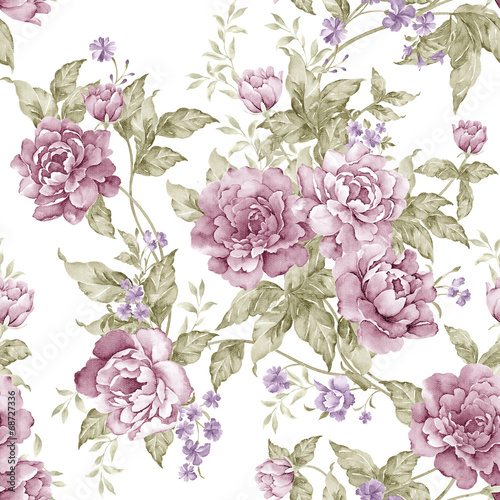 flowers seamless pattern background - For easy making seamless p - 68727336