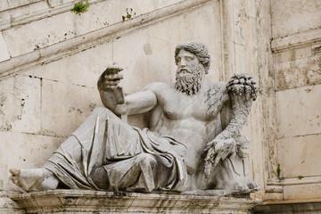 Ancient Roman allegory of Nile River. Campidoglio, Rome, Italy