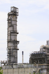 big tube in refinery petrochemical plant in heavy industry estat