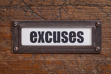 excuses - file cabinet label