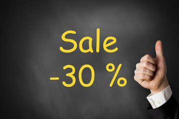 thumbs up sale thirty percent off discount