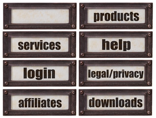 e-commerce websiite word set