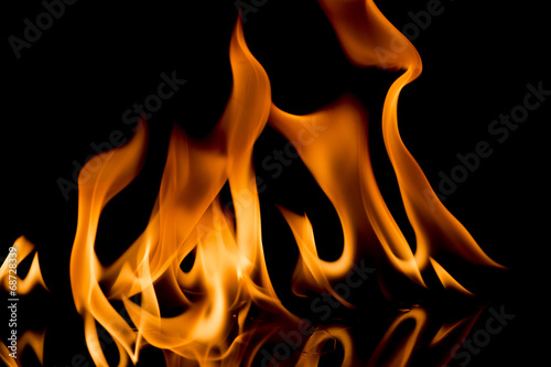 canvas print picture Fire Flames