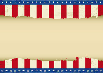 American horizontal background