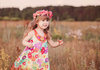 beautiful little girl outdoor