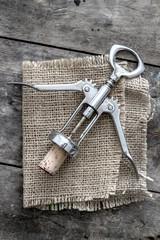 cork and corkscrew
