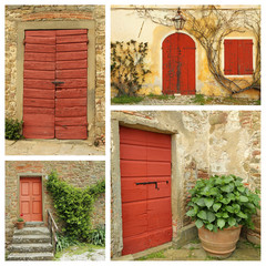 red country doors collage