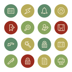 Scheduler web icons, vintage color
