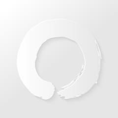 Zen circle paper shadow illustration