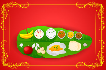 South Indian meal for Onam festival