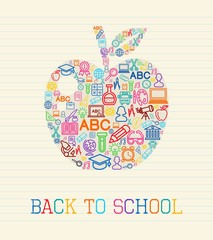 Back to School apple concept illustration