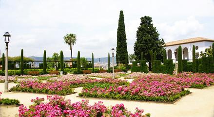 Rosaleda en los jardines del Teatre Grec, Montjuic, Barcelona