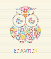 Education wisdom owl concept illustration