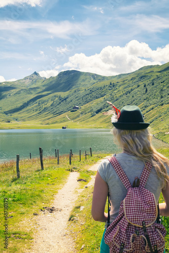 canvas print picture Tappenkarsee Wanderung
