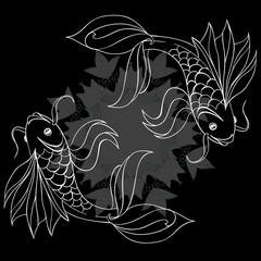 Контурные рыбки