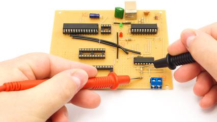 Measuring An Electronics Board