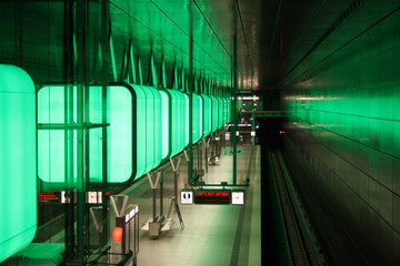 U4 Hafencity Hamburg in grün