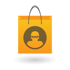 Shopping bag with a thief icon