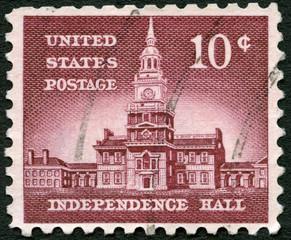 USA - 1956: shows Independence Hall