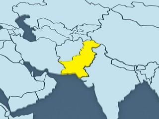 Map of worlds. Pakistan.
