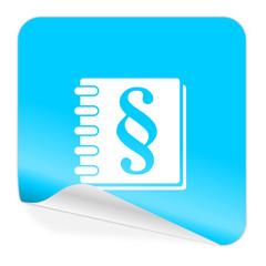law blue sticker icon