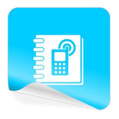 phonebook blue sticker icon