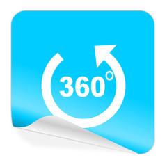 panorama blue sticker icon