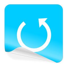 rotate blue sticker icon