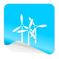 windmill blue sticker icon