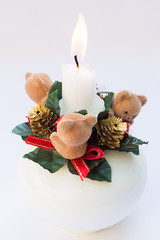 Three Little Bears Christmas Candle Holder