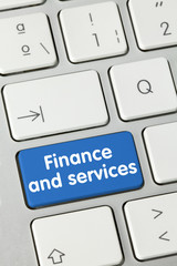 Finance and services. keyboard
