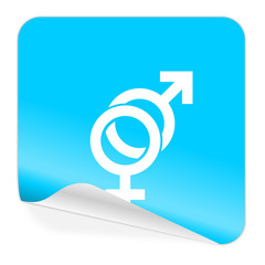 sex blue sticker icon
