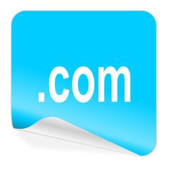 com blue sticker icon