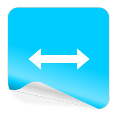 arrow blue sticker icon