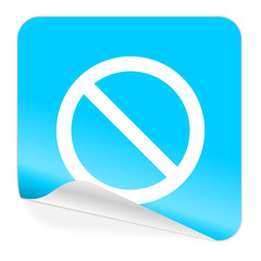 access denied blue sticker icon