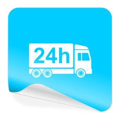 delivery blue sticker icon