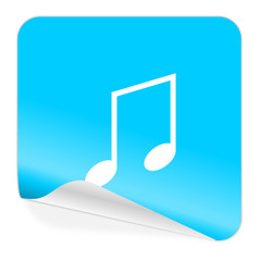 music blue sticker icon
