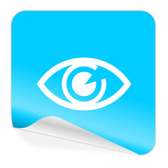 eye blue sticker icon