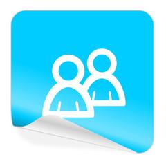 forum blue sticker icon