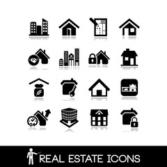 Real estate icons.