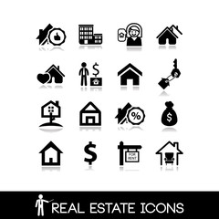 Real estate icons. Property vector set.