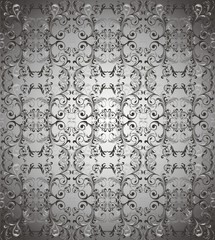 Dark grey floral background vector