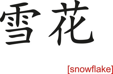 Chinese Sign for snowflake