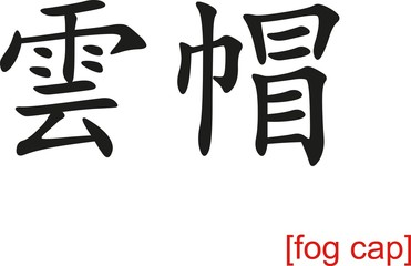 Chinese Sign for fog cap