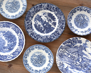 Old english plates