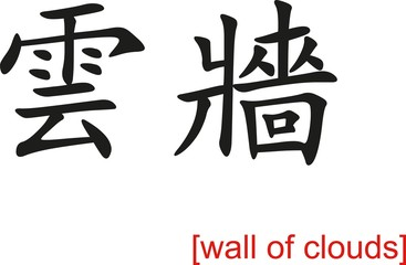 Chinese Sign for wall of clouds