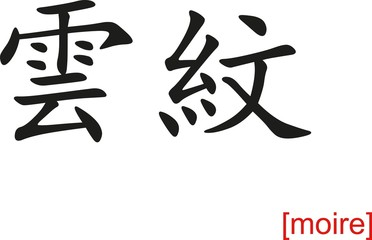 Chinese Sign for moire