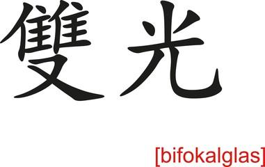 Chinese Sign for bifokalglas